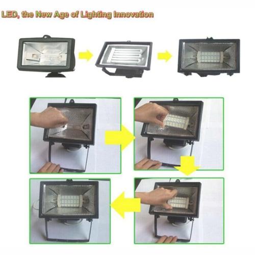 R7S 90 LEDs AC 85-265V Bulb Light Corn Lamp Floodlight Non-Dimmable 360 Degree Illumination