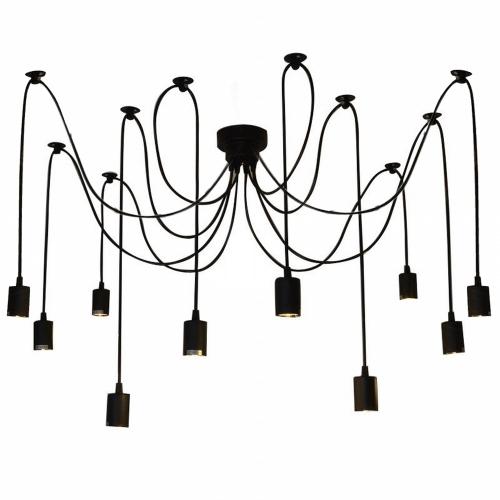 LIXADA 10 armas E27 techo araña pendiente de la luz de la lámpara antiguo clásico DIY ajustable