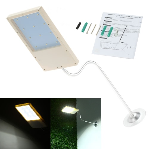 Mounted LED Solar Powered Super Bright Light Control Sensor Wall Lamp 18 LEDs Energy-saving Outdoor Street Garden Water-resistance Thin