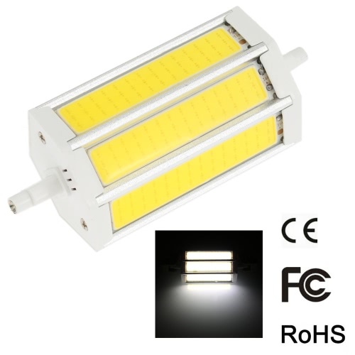 R7S 15W 118mm 1300-1400LM AC85-265V COB LED Bulb Light Corn Lamp Floodlight Dimmable 270 degree Illumination High Brightness White