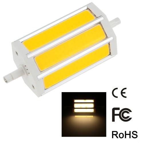 R7s 15W 118 мм 1300-1400LM AC85-265V COB светодиодные лампы свет кукурузы Светильник прожектор затемнения 270 градусов освещения высокой яркости теплый белый