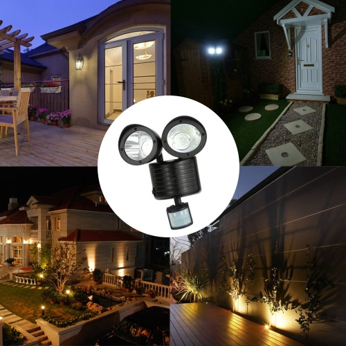22LEDs Solar Powered Wall Lamp Light
