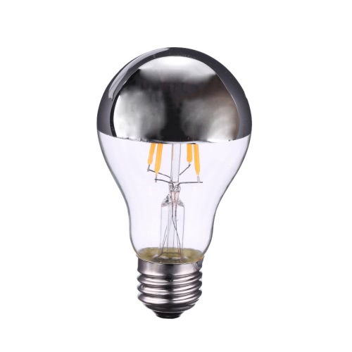 4W A60 LED Filament Bulb Light Shadowless Lamp AC220-240V E27 Base Vintage Retro Holiday Festival Decorations Warm White