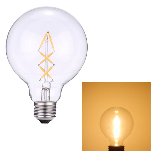 4W G95 LED Filament Bulb Light Lantern-Shaped AC220-240V E27 Base 2700K Vintage Retro Holiday Festival Decorations Warm White