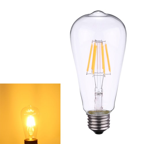 Tomshine 6W ST64 LED Filament Bulb Light AC220-240V E27 Base 2700K Vintage Retro Holiday Festival Decorations Warm White