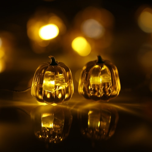 Halloween Свет тыквы Строка 40 светодиодов 3m / 10ft батарейках Фея лампы для Крытый Открытый Хэллоуин украшения