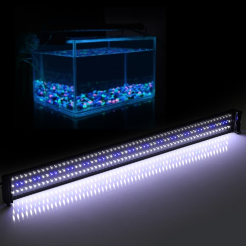 46 Extendable 32W 180 LED SMD 2835 White Blue Light 2 Modes Bracket Aquarium Fish Tank Lamp