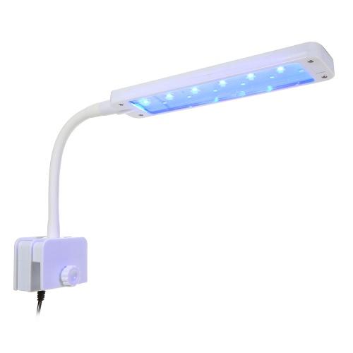 2 Modos Clamp Clip Acuario Luz Lámpara Flexible