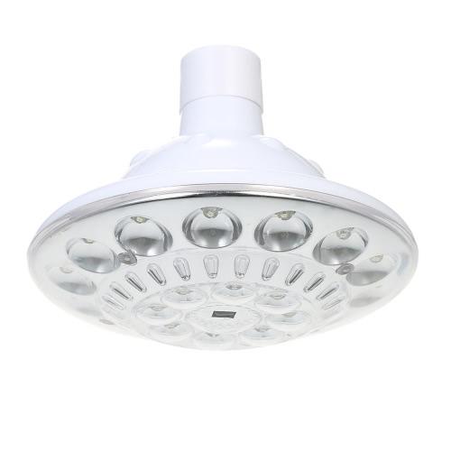 1W 22 LED Multi-funcional solar Bombilla luz accionada 100LM 3 modos de iluminación al aire libre de la lámpara portátil de interior con control remoto de encendido / apagado automático alternativo para Camping Pesca Senderismo Inicio de emergencia