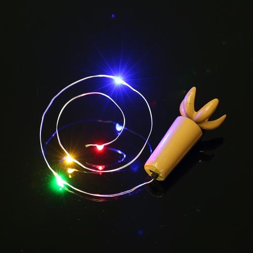 36 CM 4 LED de Alta Brillante Luz de Hadas estrellada Creativa de Alambre de Cobre cadena de cadena tapón de BRICOLAJE decoración lámpara de la atmósfera para el hogar Bar Party boda de Navidad regalo de Navidad