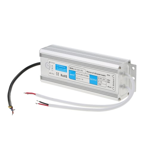 24V Waterproof IP67 LED Switching Power Supply Transformer for Indoor and Outdoor Installation