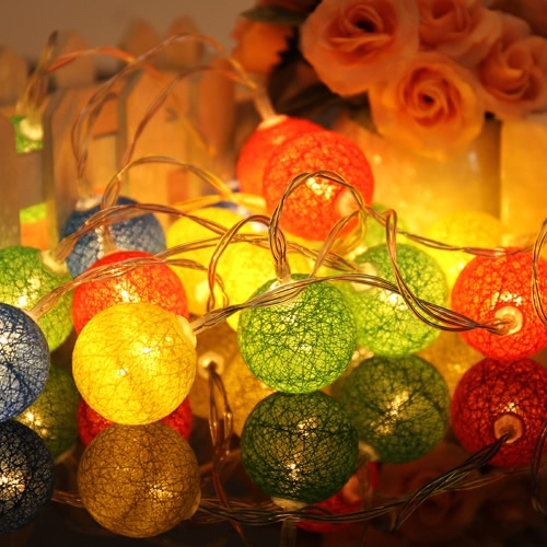 10/20 Stück bunte Stoff cremige Baumwolle Lampe Ball