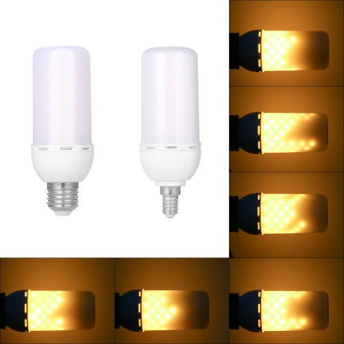 1900K SMD2835 99 LEDs 5W Lamp Flame Dynamic Fire Effect Light Bulbs Changeable Flickering Emulation Lights AC85-265V Decorative Corn Bulb Antique Lantern Atmosphere for Holiday Hotel Christmas  E27/E14