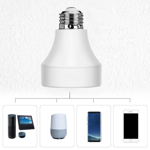 LED Concepts Wifi Remote Control Lamp Holder Wireless Smart Light Bulb Socket Cap Switch for Lamps Bulbs Base and Fixtures E27