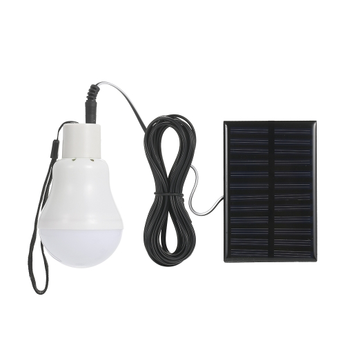 12LEDs Solar Powered Rechargeable LED Light Bulb with Solar Panel