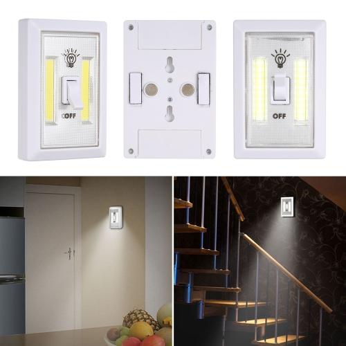 2Pack COB LED sans fil Interrupteur mural de nuit multi-usage auto-adhésif