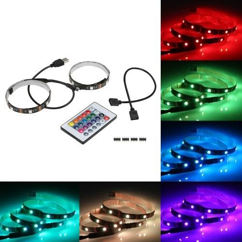 50CM * 2 6W Светодиодные полосы света комплект комплект для подсветки телевизора с дистанционным управлением