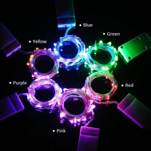 LED Fairy Starry Copper Wire String Battery Operated Powered IP65 Water Resistance Extra Flexible Bendable Light Strip
