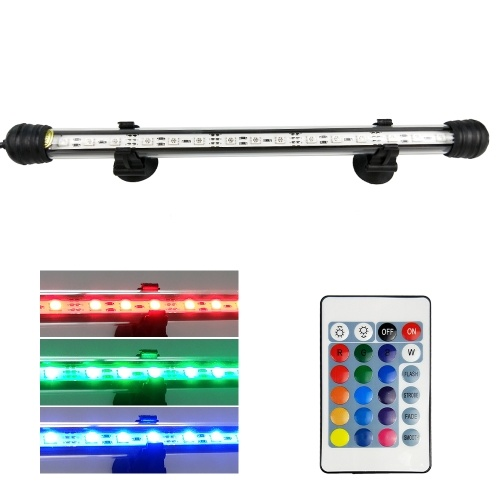 AC110-240V 3W 15 LED RGB Submersible Aquarium Lamp
