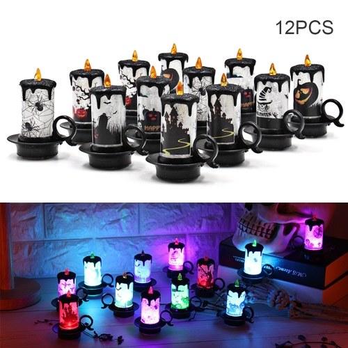 Wielokolorowa zmiana LED Elektroniczne światło świec 12 Pack Zasilane bateryjnie