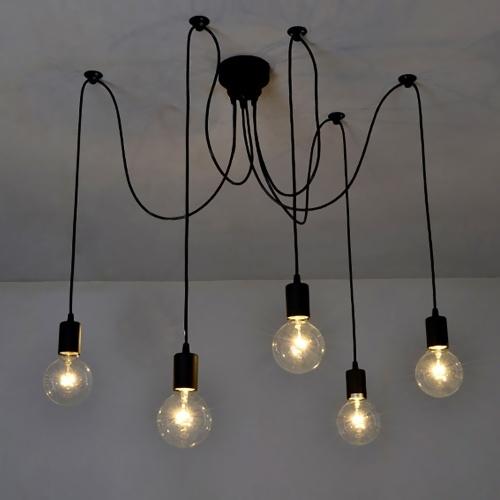 AC85-265V 500W (máx.) Lámpara de pared con techo suspendido de 5 extremos, 5 extremos