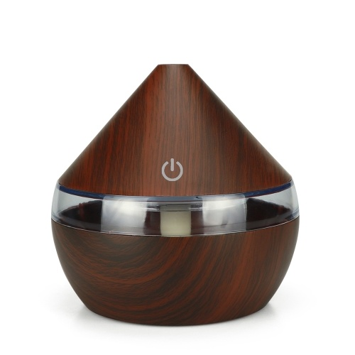 DC5V 2W 300ml USB Cool Mist Air Humidifier Essential Oil Diffuser 7 Color Changing Light for Office Home Bedroom Living Room Study Yoga Spa