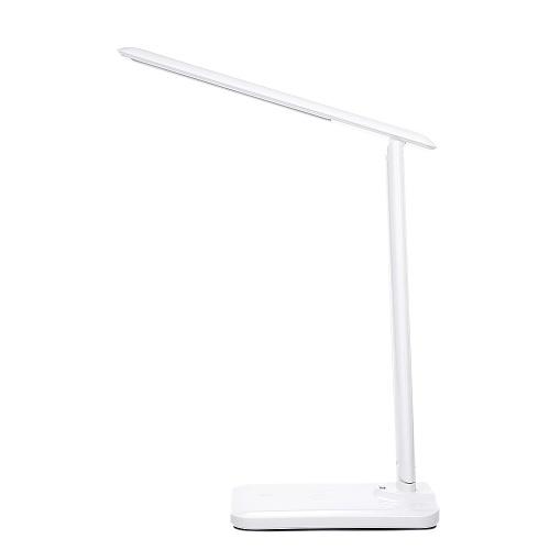 LED-Schreibtischlampe mit kabellosem USB-Ladeanschluss-Nachtlicht