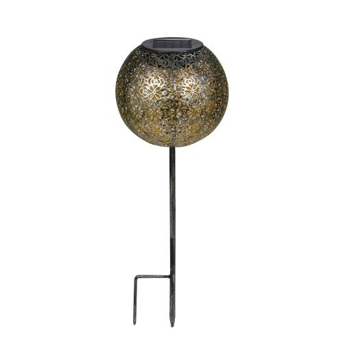 Lampada da giardino con luce solare a globo con palo da giardino Lampada da esterno IP44 resistente all'acqua