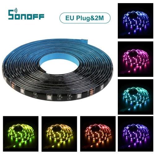 SONOFF L1 Интеллектуальные светодиодные полосы света Водонепроницаемые затемняемые полосы WiFi RGB Работа с Alexa Google Home фото