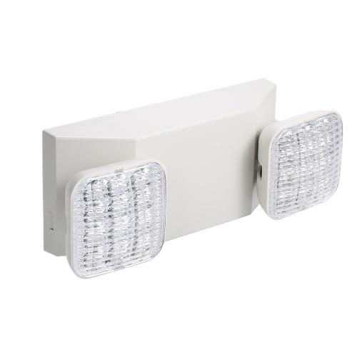 AC85-265V LED-Notlichtlampe mit zwei einstellbaren 1800-mAh-Batterien zur Wandmontage für gewerbliche Wohngebäude und Keller