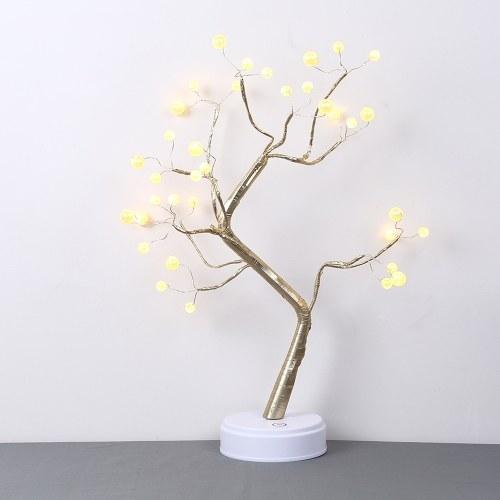 2 Modalità di offerta Impetus Risparmio energetico Decorazione domestica 36 Lampadine di perle Emulational Luce bonsai a forma di albero con colore bianco caldo
