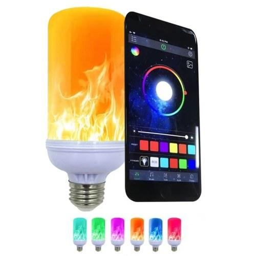 E27火炎効果の電球ホーム装飾ライト雰囲気照明ヴィンテージフレーミングランプ電話で制御