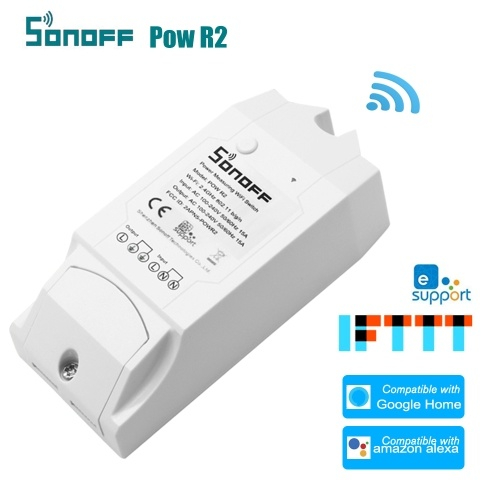 SONOFF WiFi Intelligent Switch Pow R2 ITEAD With Electricity Detection Statistics Current and Voltage Display Overload Protection