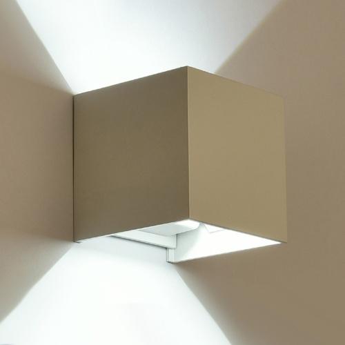 Cubo de luz ajustable Lámpara de pared con luz de baño Led Impermeable Iluminación moderna para el hogar