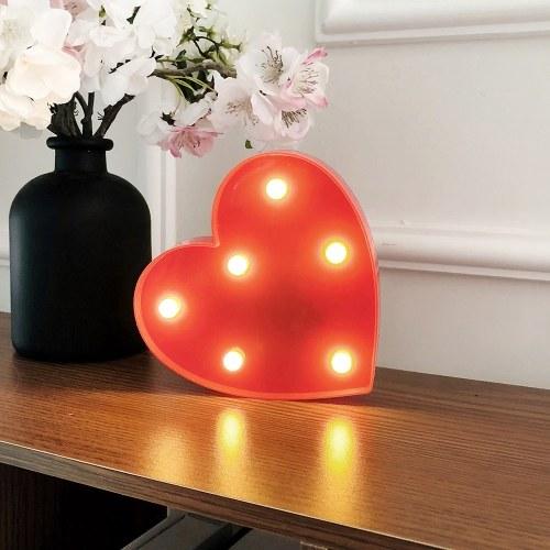 Led nachtlicht herzförmige nachtlicht dekoration lampe für geburtstagsfeier valentinstag