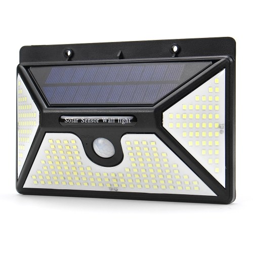218 LEDs Solar Energy Wall Lamp Motion Sensor IP65 Waterproof Outdoor Roads Yard Light