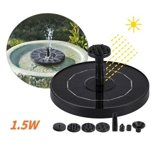 1.5WSolar Water Pump Fountain Garden Landscape Small Fountain