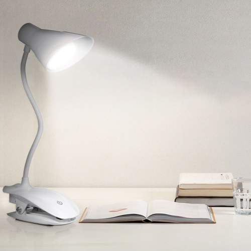 LED Clip On Reading Light USB Rechargeable Reading Lamp with Slick Touch Control