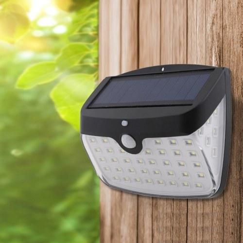 IP44 50 LED Solar Lamp White Light Corridors Courtyard Light Control Human Induction Lamp