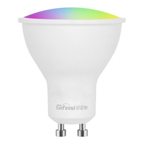 AC220V-240V 5W GU10 E27 Wi-Fi inteligente LEDs Lâmpadas Lâmpada Smartphone APP e Controle de Voz RGBW Lâmpadas de troca de cor para casa de festas