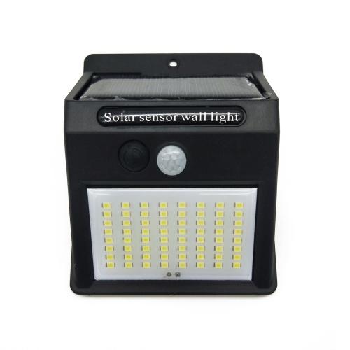 100 LED Solar Light Lámpara Solar al aire libre Sensor de movimiento PIR Lámpara de energía solar Farola de pared para decoración de jardín