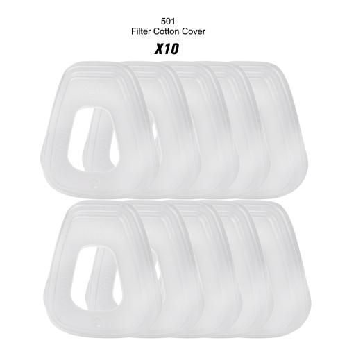 3M 501 10PCS 501 Tapa de filtro Retenedor de filtro de plástico para uso de máscara de gas con algodón de filtro 5N11 y cartuchos de filtro de serie 6000