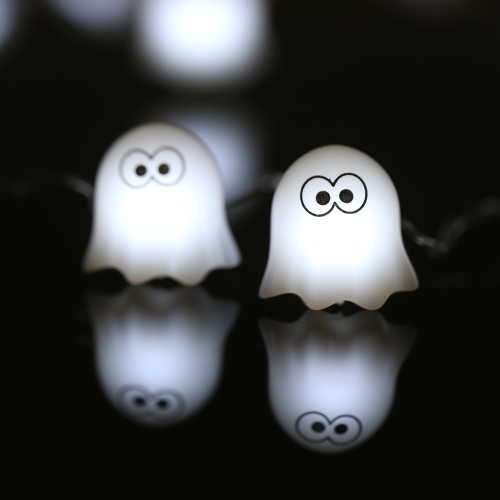 Halloween Ghost String Light 40 LEDs 3m/10ft Battery-operated Fairy Lamp for Indoor Outdoor Halloween Decoration