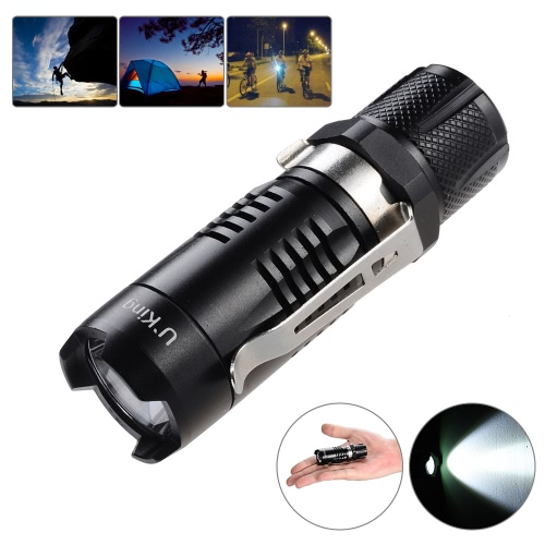 U`King ZQ-FY09 8cm Super Mini Portable Pocket LED Flashlight Torch Light Lamp 1 * XPE-Q5 3-Mode 600LM Aluminum Alloy