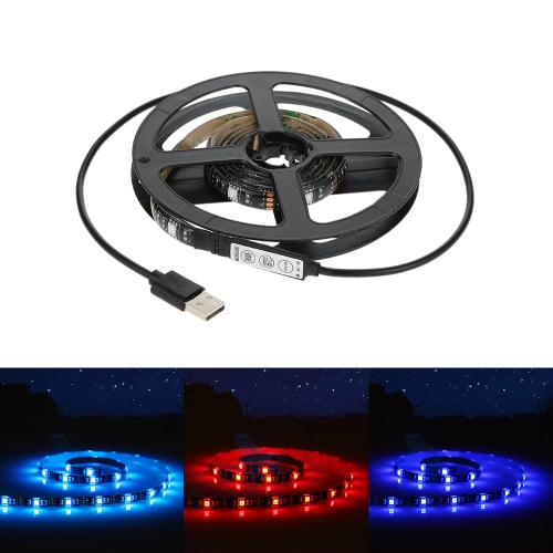 Tomshine 5V 1M 30 LEDs Lighting Strip RGB SMD5050 Water Resistance IP65 USB Port  with Mini Controller