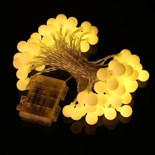 Tomshine String Light 0.6W 10M / 32.8Ft 80LEDs Аккумуляторная батарея IP44 Водонепроницаемость с пультом дистанционного управления для вечеринок Гостиная Спальня Патио Сад