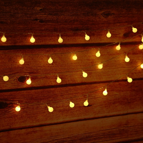 Tomshine 32.8ft 80 LED Battery Operated String Lights Outdoor Decor for Patio Garden Party IP44 Water Resistance, 3 AA Batteries (Not Provided)