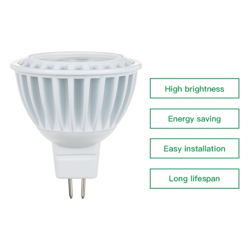 15W LED MR16 6000-6500K White COB Ultra Bright Spotlight