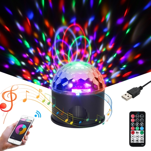 BT Connected 9 цветов Magic Ball Light Lamp Speaker с пультом дистанционного управления