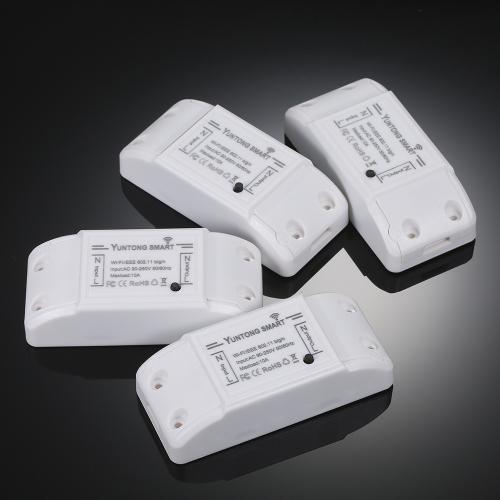 Interruptor inalámbrico 4Pack Interruptor inteligente inalámbrico con Controlcal de voz remoto para electrodomésticos Soporte de control de voz para Android / IOS portátil